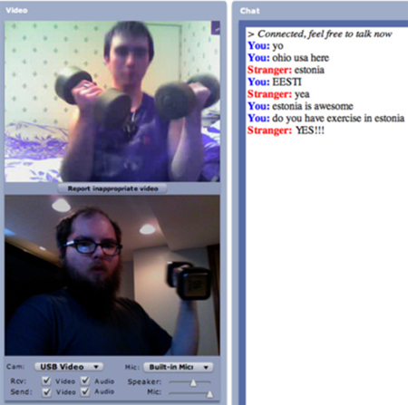 chatroulette gym